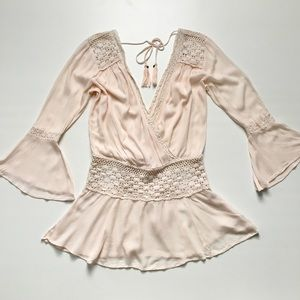 Free People Lace Boho Tunic